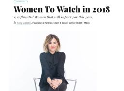 Kristina Scala nominated as Top 15 Influential Women to Watch in 2018!