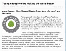 Alumni Featured in The Villager for Making the World Better