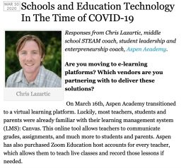 Chris Lazartic Featured in Education IT Reporter