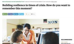 Building resilience in times of crisis - Denver Business Journal